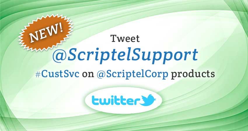 @ScriptelSupport Extends #CustSvc to Twitter Users