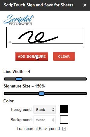 Step8: Cursor over add signature button