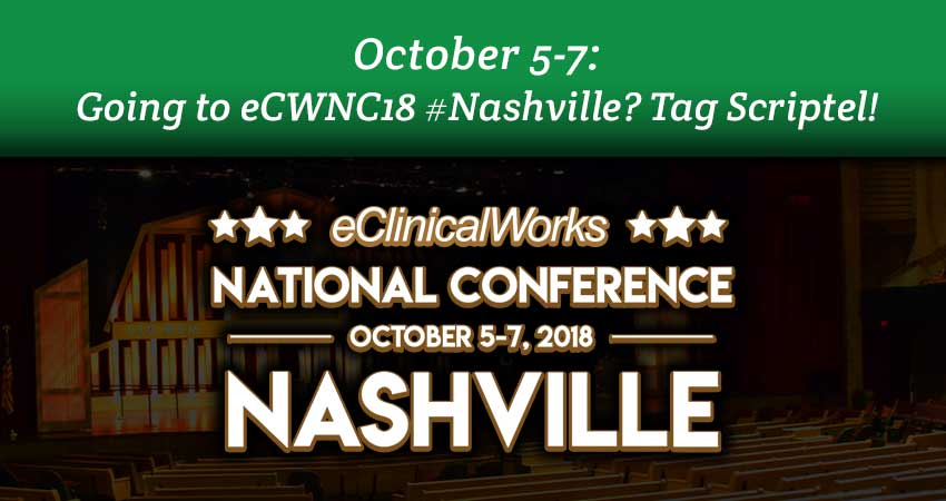 OCT. 5-7: Going to eCWNC18 #Nashville? Tag Scriptel!